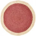 Colours Elma Natural & Rust Two Tone Border Rug (L)0.9M (W)0.9 M