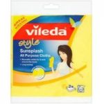 Vileda Style Sunsplash All Purpose Cloth Pack of 2